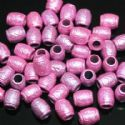 Beads, Acrylic, pink, Cylindrical, 9mm x 7mm x 7mm, 8g, 40 Beads, (SLZ0201)